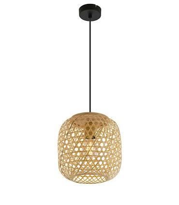 Lámpara Colgante de Bambú Natural 23cm