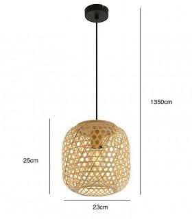 Medidas Lámpara Colgante de Bambú Natural 23cm