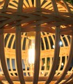 Detalle Lámpara Colgante de Bambú Natural AMSFIELD Ø38cm