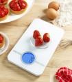 Báscula de Cocina Digital Superficie Cristal Blanco