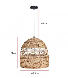 Dimensiones Lámpara Colgante de Fibra Natural Malawi Ø45cm