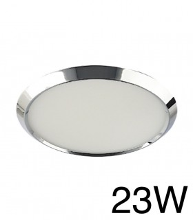 Downlight Cromo Redondo BISEL Empotrable 23W 4000K YLD LC1484R
