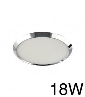 Downlight Cromo Redondo BISEL Empotrable 18W 4000K YLD LC1484R
