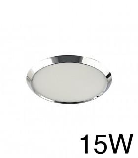 Downlight Cromo Redondo BISEL Empotrable 15W 4000K YLD LC1484R