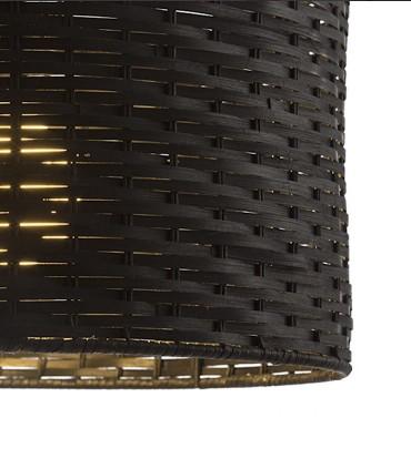 Detalle pantalla Lámpara Colgante de Bambú Natural Negro FIATLUX Ø40cm