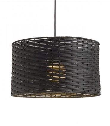 Lámpara Colgante de Bambú Natural Negro FIATLUX Ø40cm