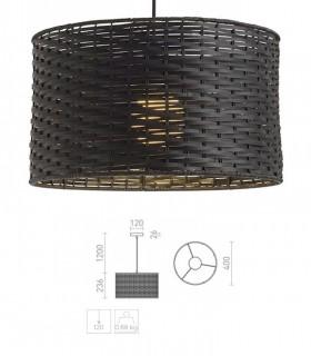 Dimensiones Lámpara Colgante de Bambú Natural Negro FIATLUX Ø40cm