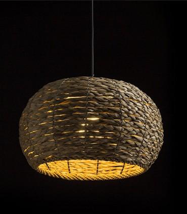 Lámpara Colgante ARUBA de Mimbre Natural Ø34cm