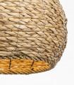 Detalle pantalla Lámpara Colgante ARUBA de Mimbre Natural Ø34cm