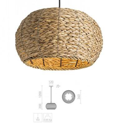 Dimensiones Lámpara Colgante ARUBA de Mimbre Natural Ø34cm