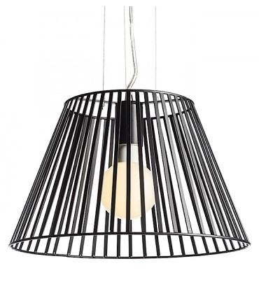 Lámpara Suspensión Pantalla Metal Negro VESCO Ø36cm