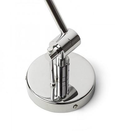 Lámpara Brazo Articulado Desplazable BROADWAY Cromo con Pantalla Ø30cm