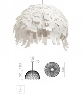 Dimensiones Lámpara Colgante RARA Blanco Ø54cm