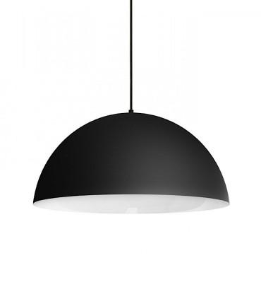 Lámpara Campana MONROE 50 metal negro-blanco grande Ø50cm