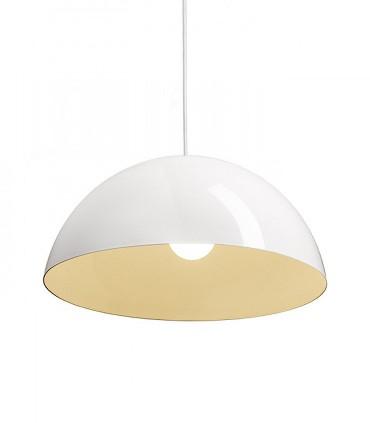 Lámpara Campana MONROE 50 metal blanco grande Ø50cm