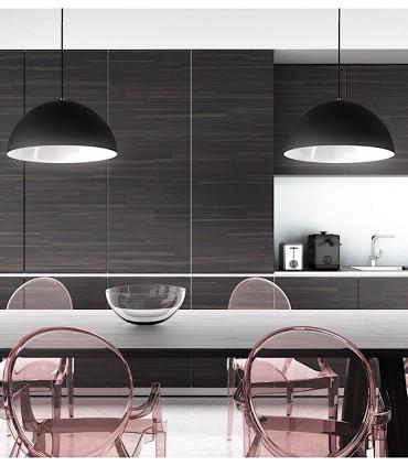 Imagen de ambiente Lámpara Campana MONROE 50 metal negro-blanco grande Ø50cm