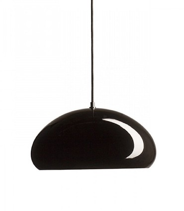 Lámpara Campana ROZE 40 metal negro-blanco brillo Ø40cm