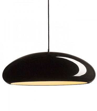 Lámpara Campana ROZE 53 metal negro-blanco brillo grande Ø53cm
