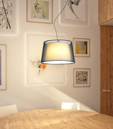 Lámpara Suspensión doble pantalla ESPLANADE Ø43cm