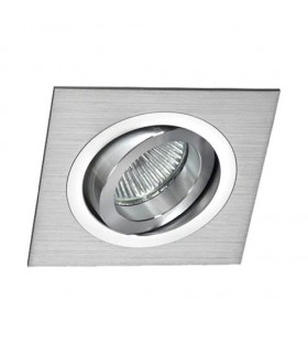 Aro Foco Empotrable Cuadrado Aluminio BASIC Orientable C0002 Mantra