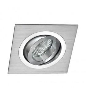 Aro Foco Empotrable Cuadrado Aluminio BASIC Orientable Mantra