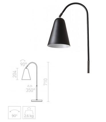 Dimensiones Lámpara de Mesa Articulada GARBO E27