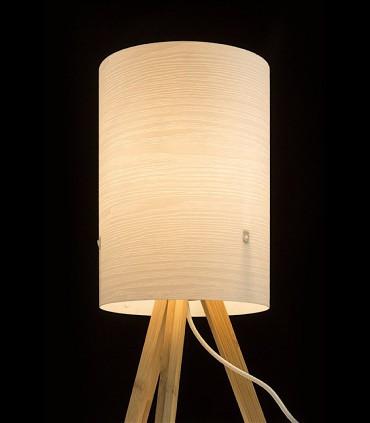 Lámpara de Mesa RUMBA con trípode de madera Ø16cm