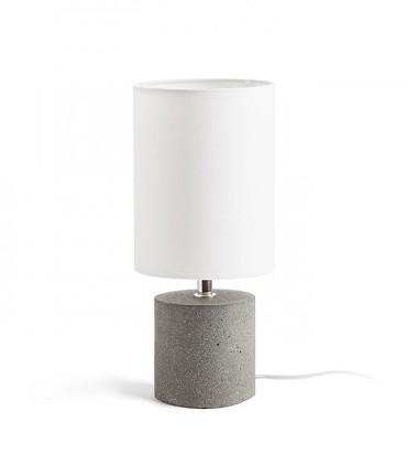 Lámpara de Mesa Base Hormigón y Pantalla CAMINO  Ø15cm