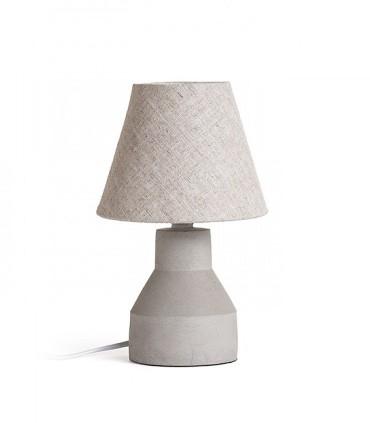 Lámpara de Mesa Hormigón y Pantalla HEIDI  Ø15cm