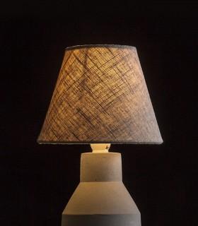 Lámpara de Mesa Iluminada de Hormigón y Pantalla HEIDI  Ø15cm
