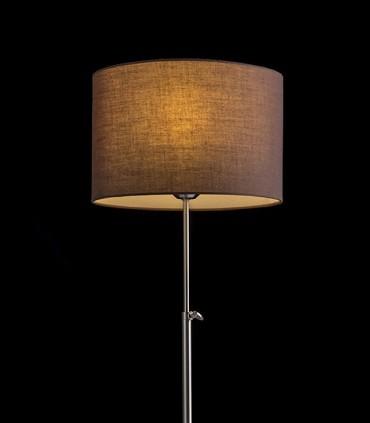 Lámpara de mesa regulable en altura EDIKA níquel mate Ø30