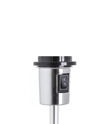Interruptor Lámpara de mesa trípode regulable en altura GARDETTE Aluminio Ø30
