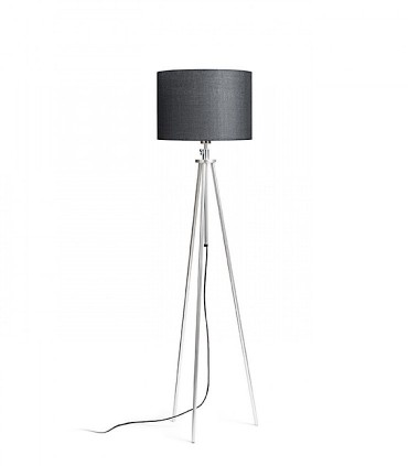 Lámpara de pie trípode regulable en altura GARDETTE  Aluminio Ø30