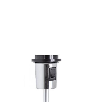 Interruptor Lámpara de pie trípode regulable en altura GARDETTE  Aluminio Ø30