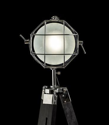 Lámpara de pie trípode proyector NAUTIC Cromo