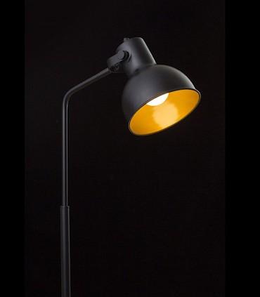 Lámpara de Pie Retro ROSITA GU10 Negro/Oro