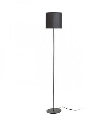 Lámpara de pie Pantalla textil Negra ETESIAN  Ø23cm