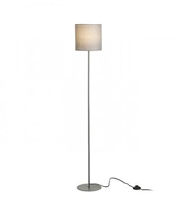 Lámpara de pie Pantalla textil ETESIAN Gris iluminada Ø23cm
