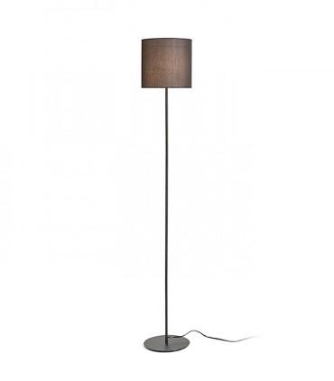 Lámpara de pie Pantalla textil Negra iluminada EETESIAN Ø23cm