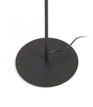 Detalle base lámpara pie negra ETESIAN