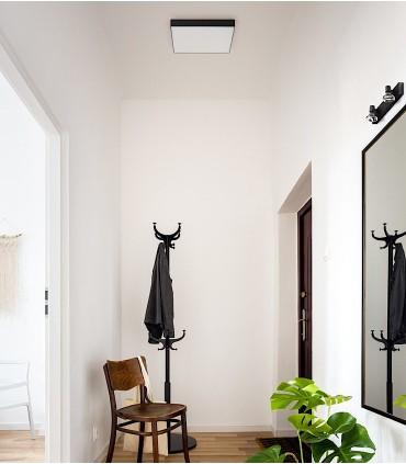 Imagen de ambiente Plafón Led cuadrado LARISA SQ 40 50W 40cm Negro