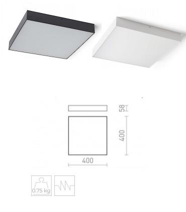 Dimensiones Plafón Led cuadrado LARISA SQ 40 50W 40cm Negro-Blanco 3000K