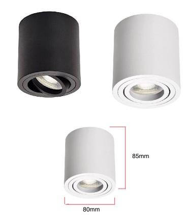 Dimensiones Foco De Superficie orientable SKIP GU10 Blanco-Negro  JUERIC