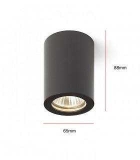 Dimensiones Foco De Superficie LOL para led GU10 Blanco-Negro-Cromo