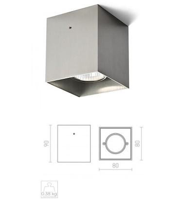 Dimensiones Foco De Superficie CUBO Aluminio GU10