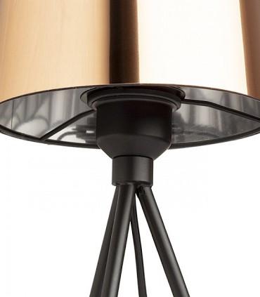 Detalle Lámpara de mesa trípode pantalla cobre SENSATION Ø18