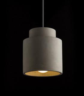 Lámpara Colgante Hormigón PEZZO E27 Ø14,8cm