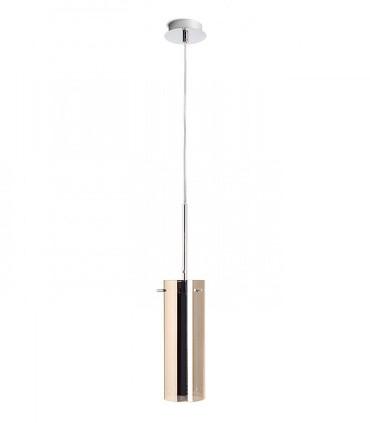 Colgante Vidrio Cobre 1 luz SANS9 E27 Ø9cm