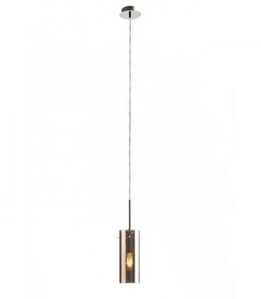 Colgante Vidrio Cobre 1 luz SANSSOUCI I COPA E27 Ø9cm