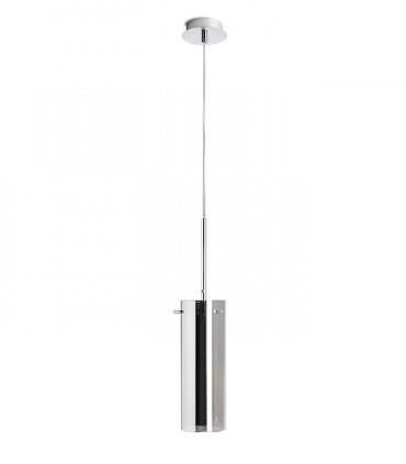 Colgante Vidrio Cromo 1 luz SANSSOUCI I CROMO E27 Ø10cm